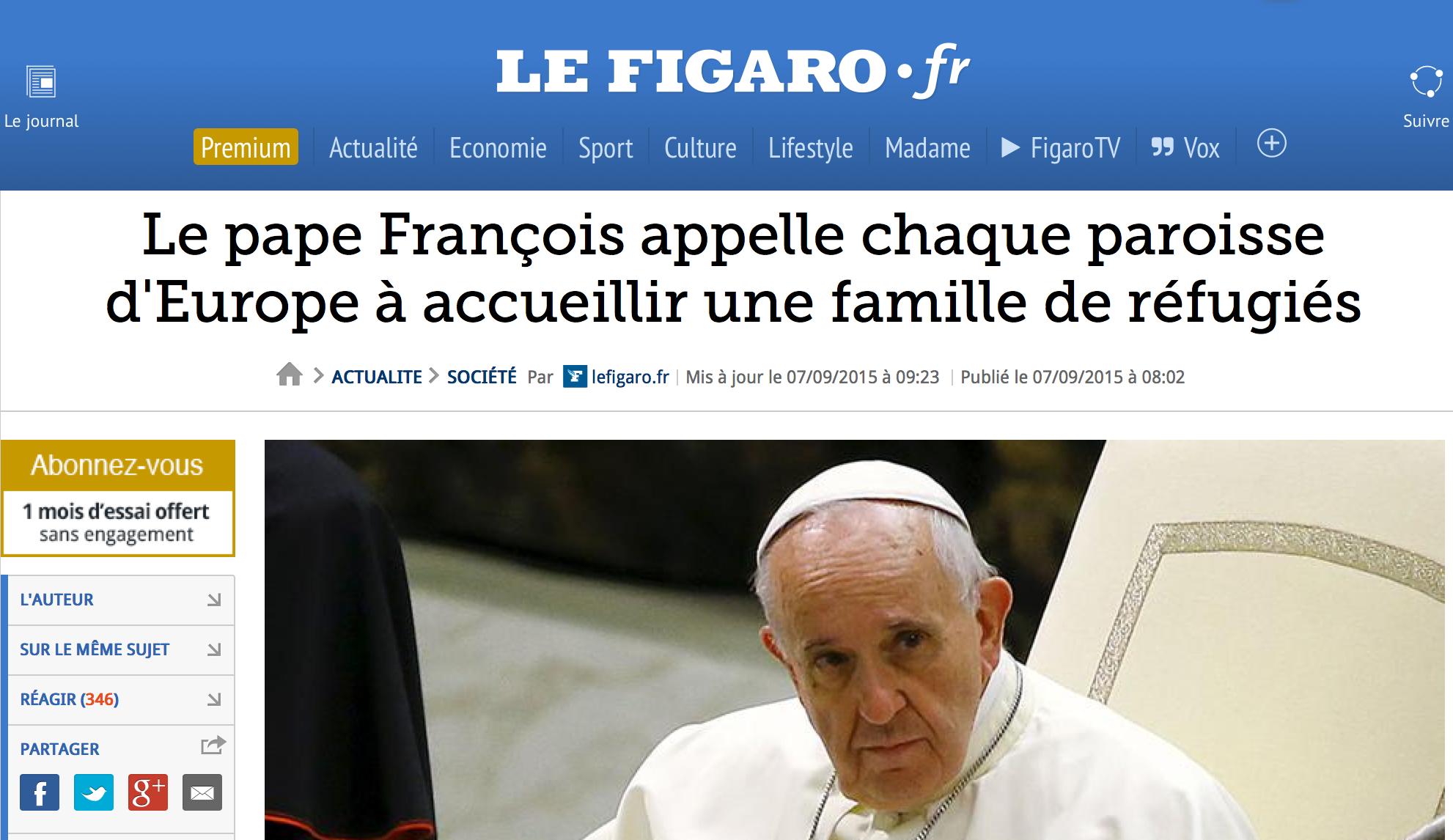 Le pape François... met François-Xavier dans l'embarras