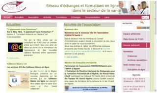Nouveau site de l'association FORMATICSanté