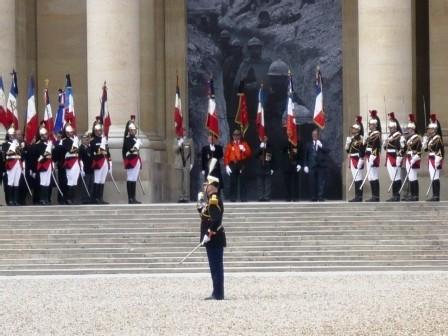 Le dernier Garibaldien français de 14 aux Invalides, au nom des Poilus et de tous les étrangers engagés volontaires en France. Lazare PONTICELLI