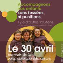 La journée de la Non Violence éducative du 30 avril 2016 approche