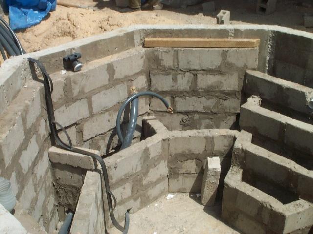 Diaporama spa b ton octogonal galerie sensec for Spa beton debordement