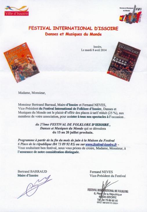 FESTIVAL ISSOIRE 2014