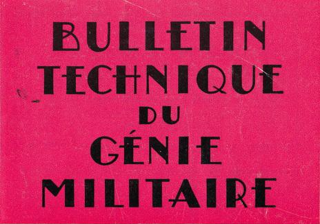 Bulletin technique du génie militaire