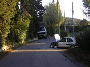 Accident sur le chemin des Maures et des Adrets