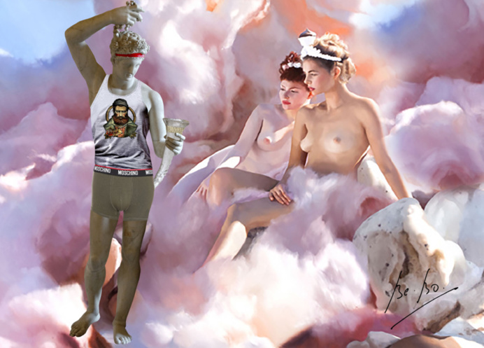 Erotisme latent dans ce tableau Consuming Folly, 2010, Will Cotton