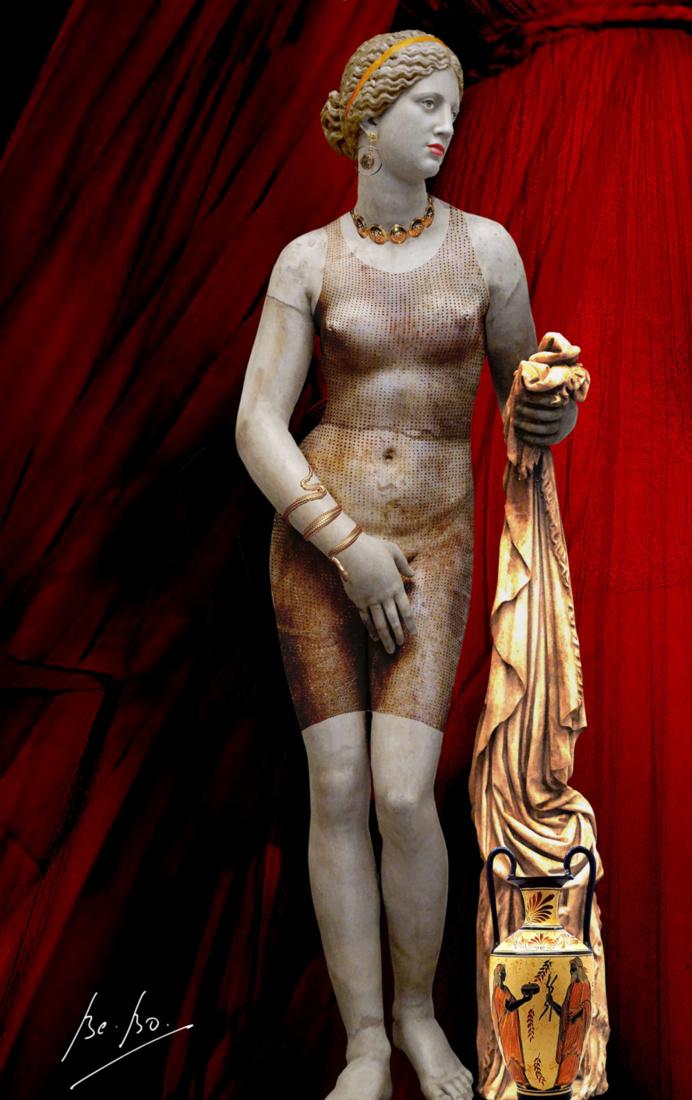 Aphrodite couverte d'or de Dior