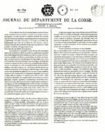 Il primo giornale stampato in Corsica