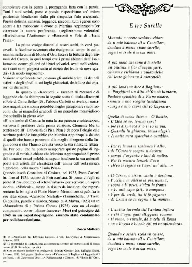 Dumenicu Carlotti (Martinu Appinzapalu)