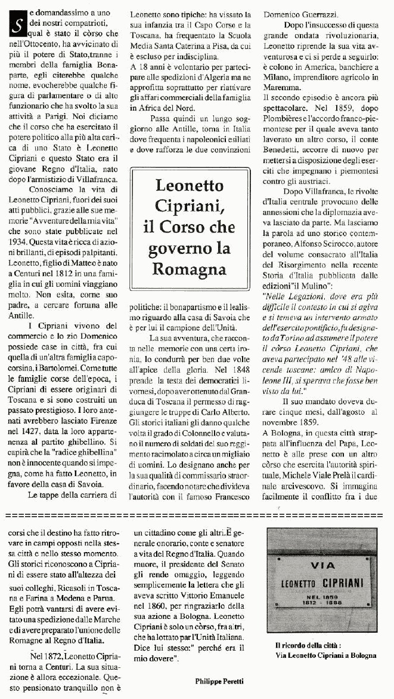 Leonetto Cipriani, il Còrso che governò la Romagna