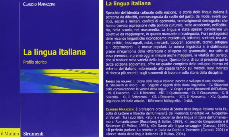 La lingua italiana  Profilo storico
