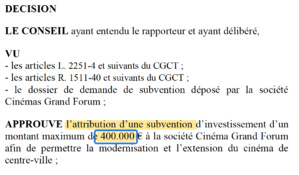 400 000 euros de subvention...