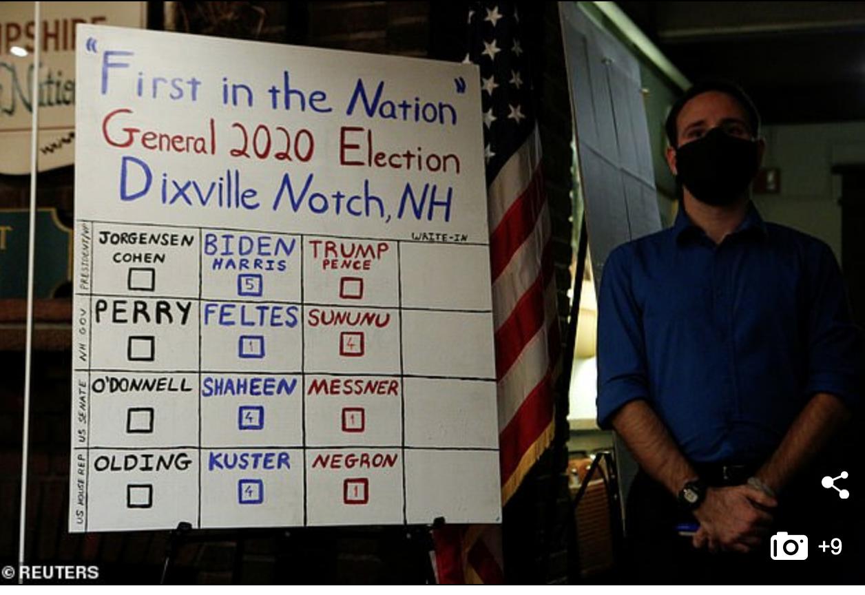 Le panneau d'affichage du bureau de vote de Noxville Notch
