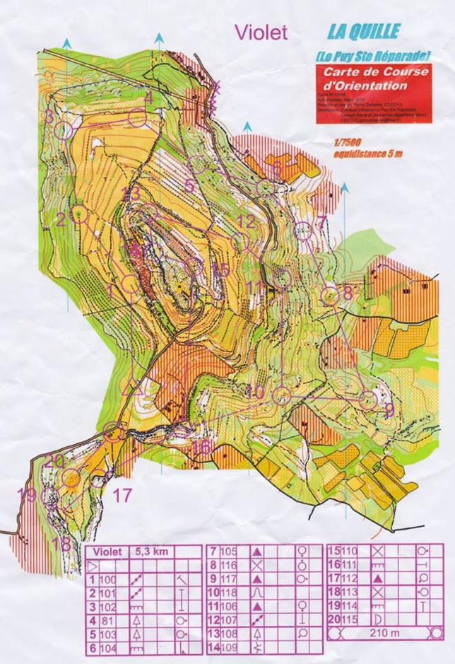 Pays d'Aix Orientation Tour 4 - La Quille (Le Puy Sainte Réparade)