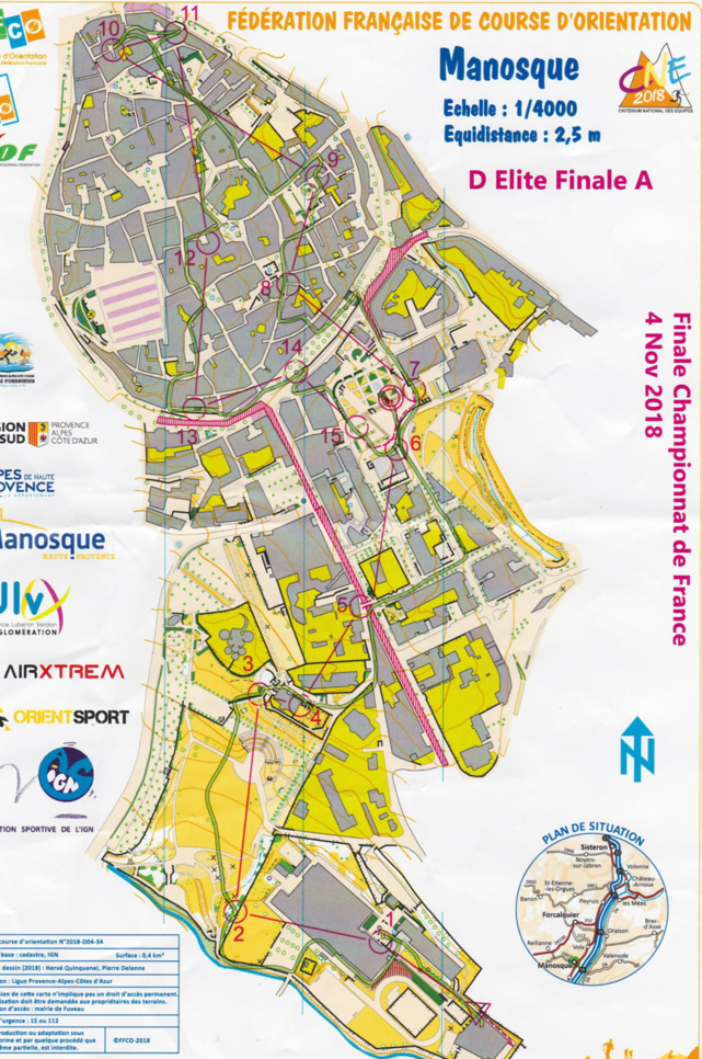 Championnat de France de Sprint Elite de Course d'Orientation