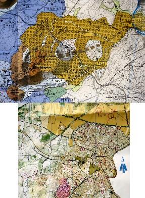carte géologique et carte de CO