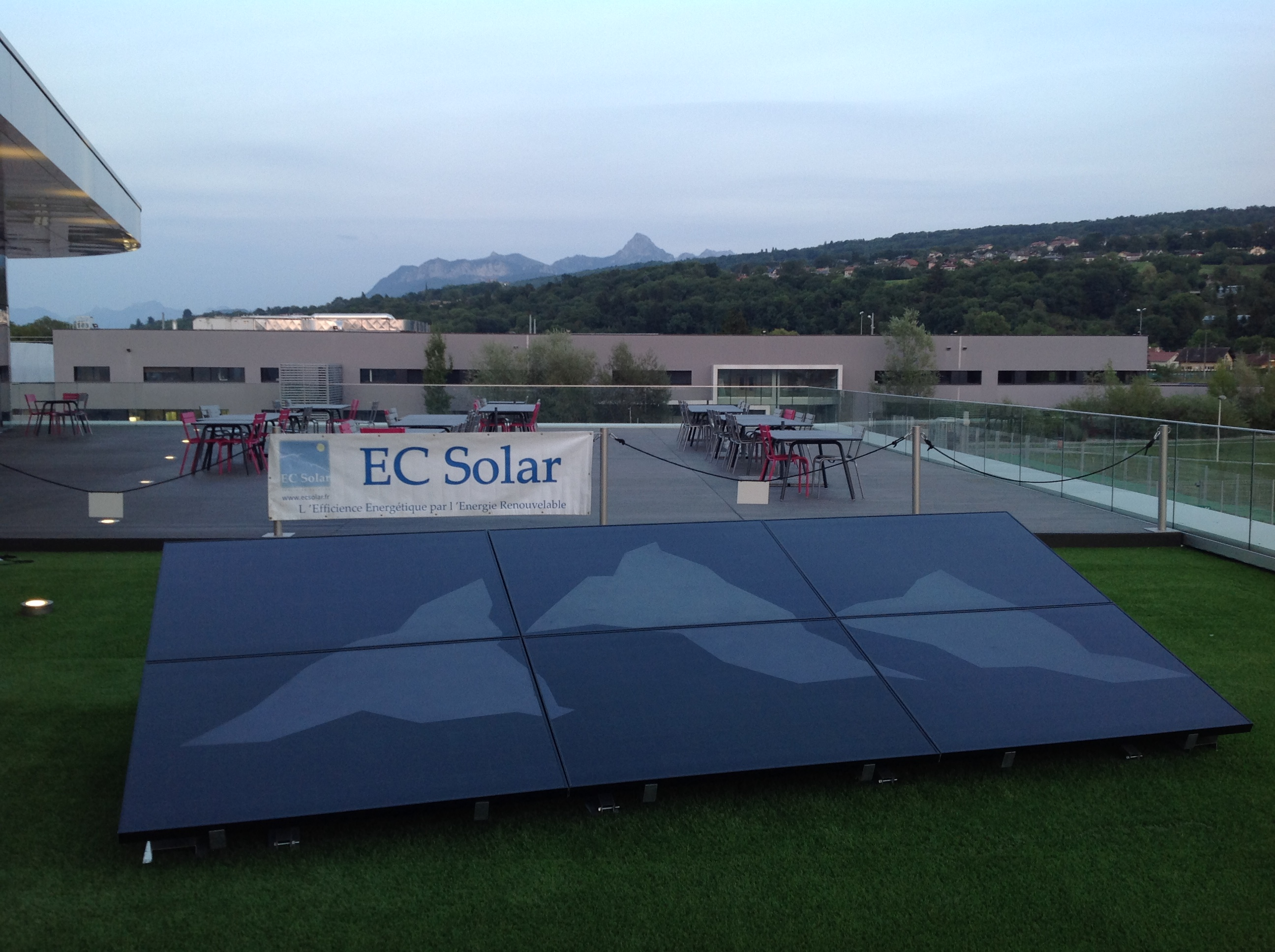 CHANTIER PILOTE USINE EVIAN TOTAL SOLAR