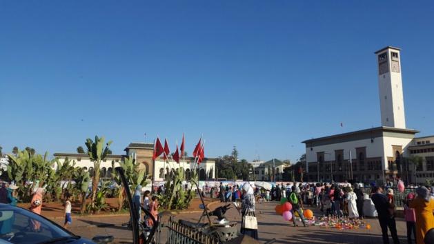 La place Mohammed V. Crédit : Ali Choukroun