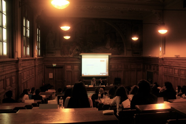 Débats autour de la question de la protection des journalistes au comité de l'UNESCO. - Crédit Lisa Hugouvieux