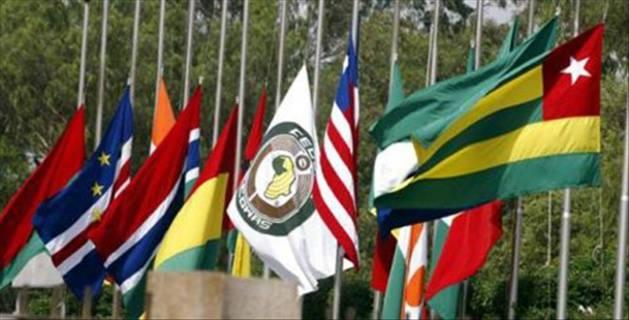 Drapeaux des États membres de la CEDEAO. Crédit : ANiamey.com