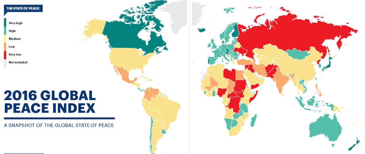 Global Peace Index 2016 - Capture d'écran