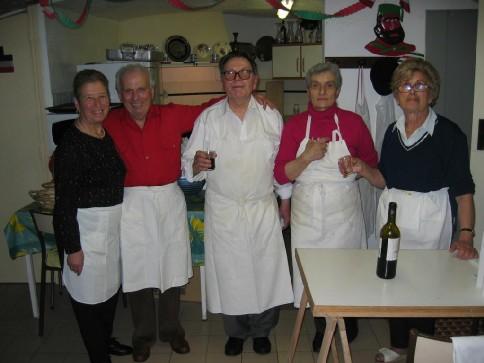 Les cuistos Garibaldiens... Agnese, Théodore, Georgio, Maria, Anna