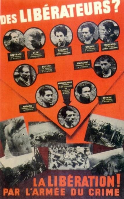 L'affiche rouge dans le local des Garibaldiens