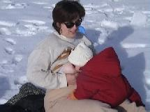 tétée à la neige
