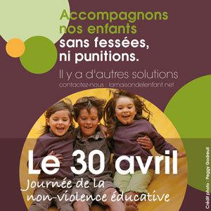 Le 30 avril 2015, c'est la douzième journée de la non-violence éducative