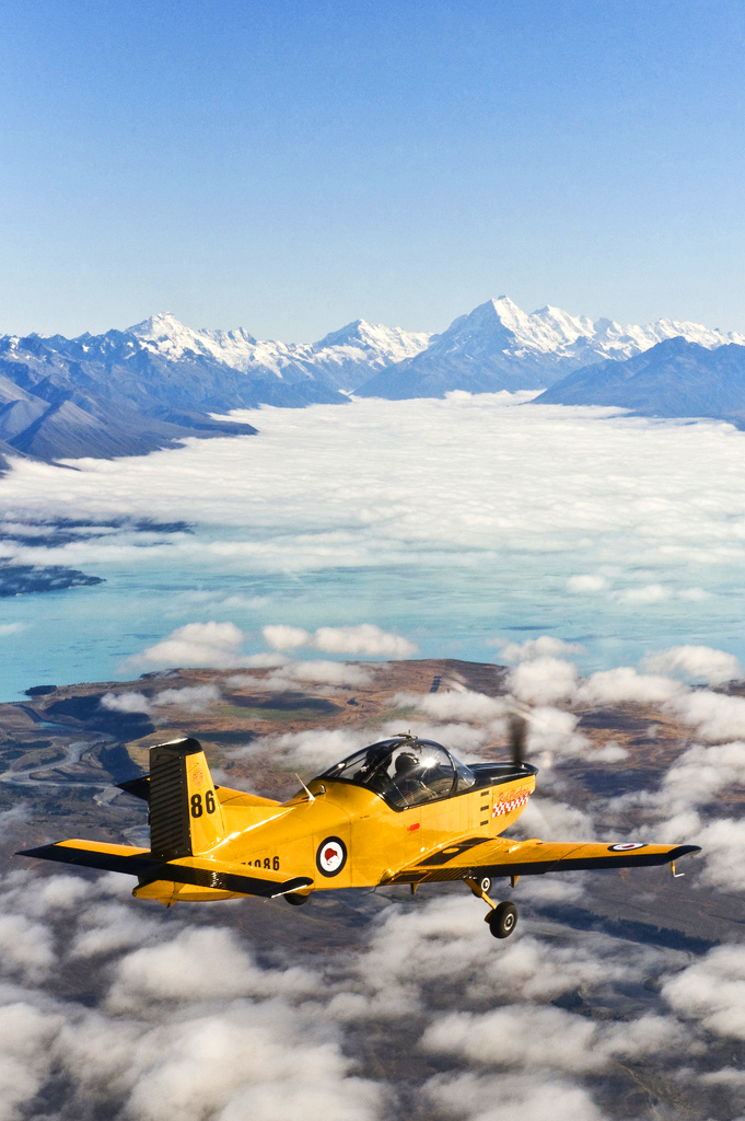 Air Force Air Trainer and Mt Cook