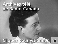 Vidéo d'une interview de Simone de Beauvoir censurée en 1959, disponible sur radio-canada.ca