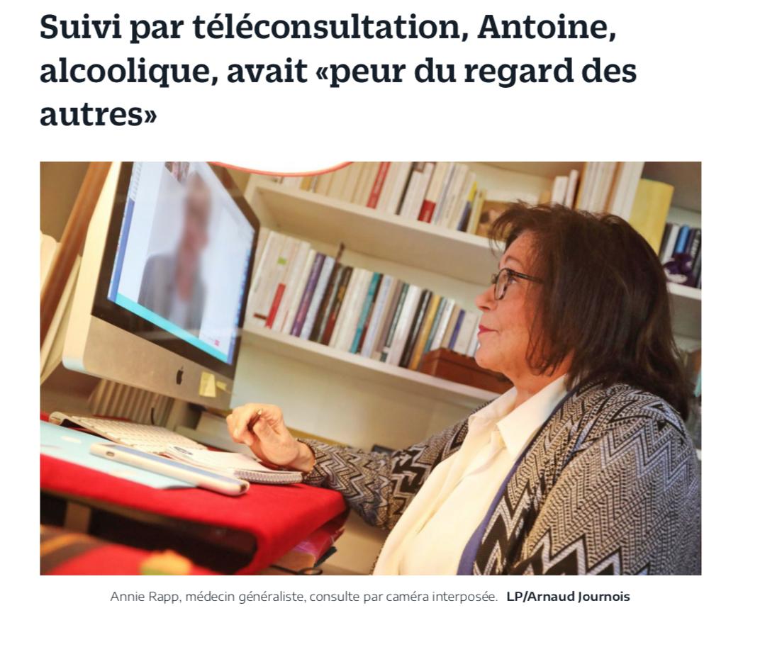 """Article du Parisien : """"J'avais peur du regard des autres"""""""