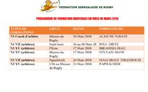 [ARBITRAGE] Programme des sessions de formation du mois de mars 2018.