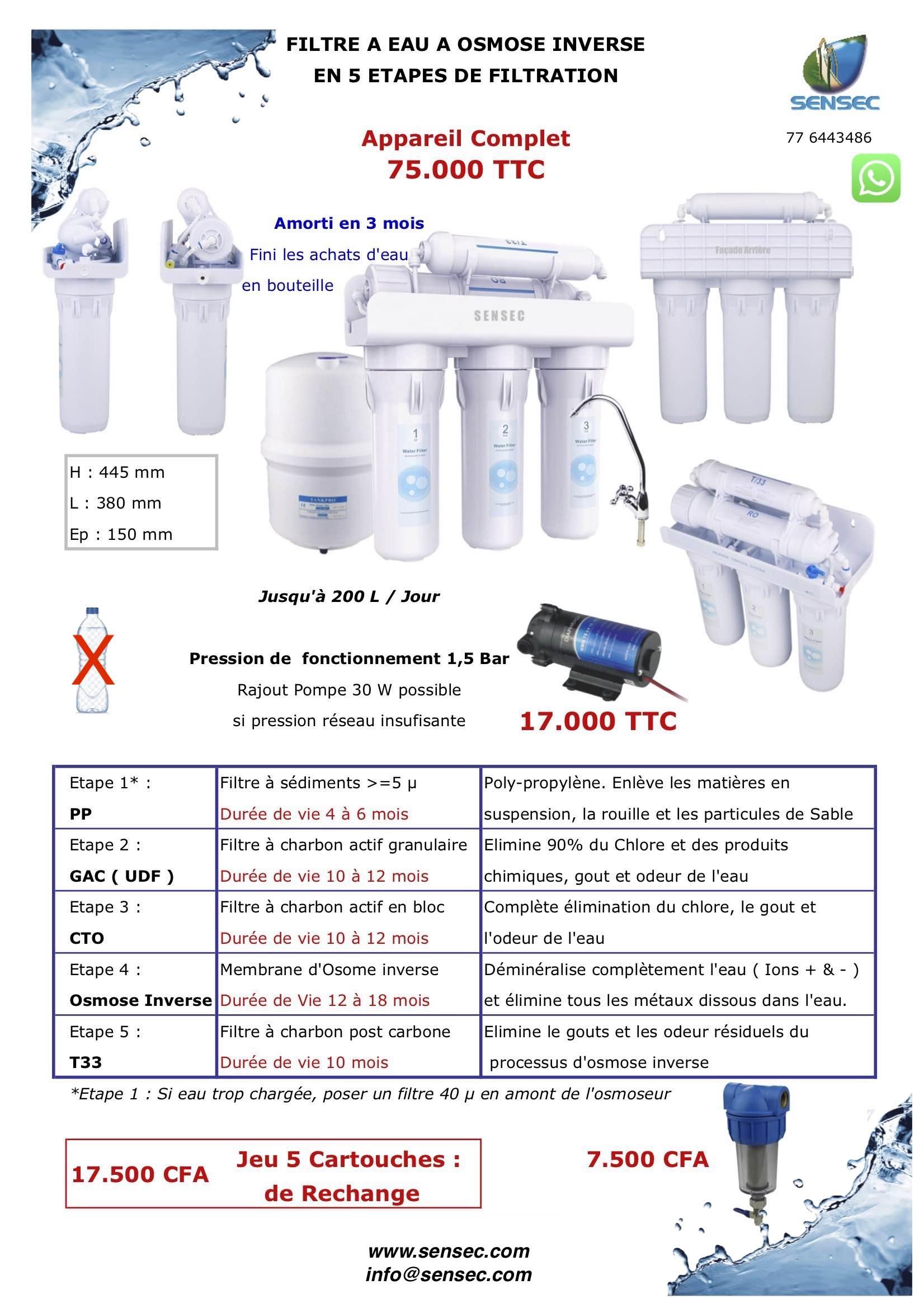 Fiche Commerciale Osmoseur