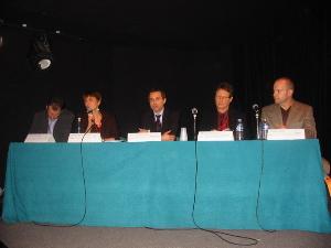De gauche à droite: Pierre Trudelle, Joëlle André-Vert, Yves Chatrenet, Michaël Nisand, Gabor Sagi