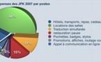 Répartition des dépenses des JFK2009