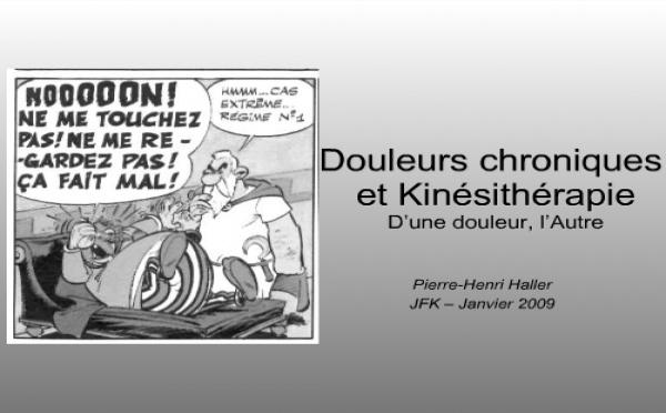 JFK2009: Conférences invitées. Thème 1 : Douleur