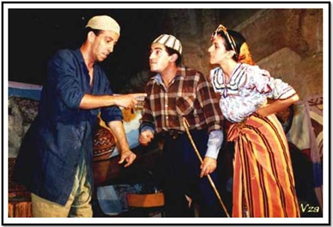 """Pièce de théâtre kabyle,"""" Si Lehlou"""", une adaptation du malade imaginaire de Molière (PH/DR)"""