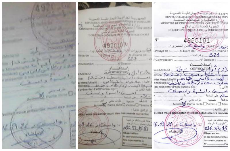 Alerte : Trois militants du MAK convoqués par la sûreté de l'Etat algérien