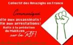 Communiqué du C.A.F: « Halte aux assassinats ! Halte aux arrestations ! Halte à la prédation du Makhzen sur le Rif ! »