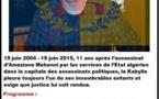 Hommage à Ameziane Mehenni le 19 juin à Maraghna, Tizit et Tizi Bbuccen