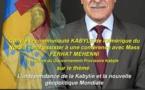 Le président du GPK , Ferhat Mehenni, anime une conférence le samedi 10 octobre à New York