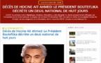 Humilié par le MAK et le GPK, Bouteflika se résout a décréter 8 jours de deuil  suite au décès de Hocine Ait-Ahmed