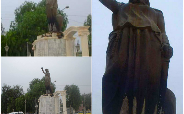 La statue de la reine Dihya incendiée à Baghaï : Le MAC réagit