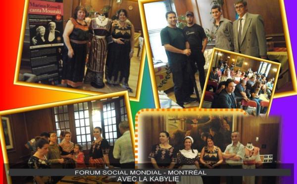 Forum Social Mondial 2016 : Remerciements de l'association Amitié Québec-Kabylie