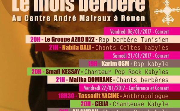 Malika Domrane et Ali Amrane à Rouen dans le cadre du festival Tilelli