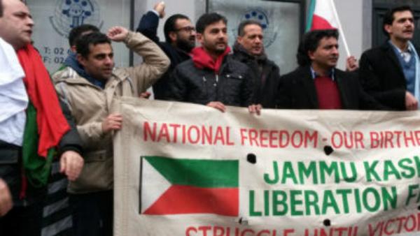 Manifestation à Bruxelles pour l'indépendance du Cachemire