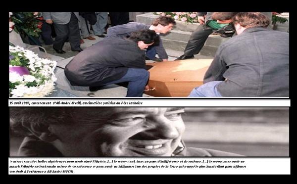 Hommage à Ali-André Mécili assassiné à Paris : Dimanche 13 avril 2014 au Cimetière du Père Lachaise, à 14 h 30