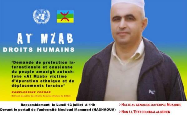 Ghardaïa/Urgent : Arrestation du Dr Kamel Eddine Fekhar et 30 autres militants mozabites