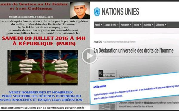 Détenus politiques du Mzab / Rassemblement ce samedi, Place de la république (Paris) à 14h