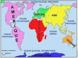 Continents et océans (CM)